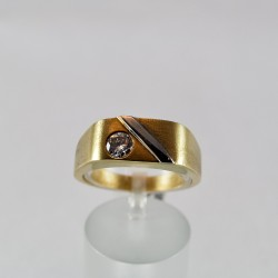 Goldring Brillant 0,384 ct (Gelbgold 585)
